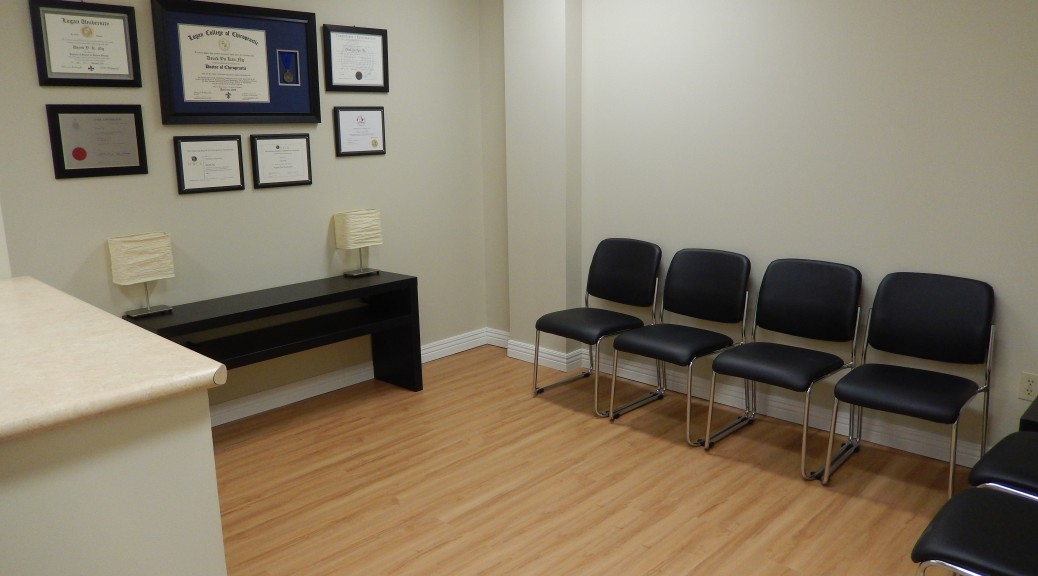 Markham Chiropractor Waiting Room